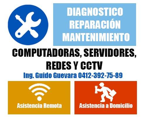 servicio y soporte técnico computadores servidor redes cctv