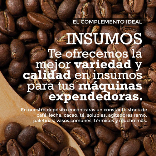 servicio y venta de máquinas expendedoras de café & snack