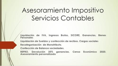 servicios administrativos, contables e impositivos