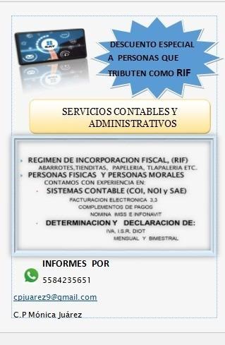 servicios contable/administrativos manejo de aspel