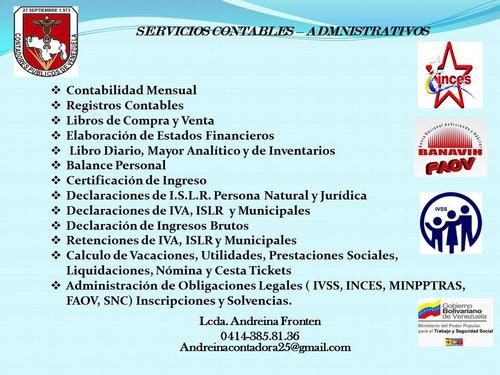 servicios contables administrativos