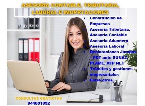servicios contables - contadora   -   trujillo