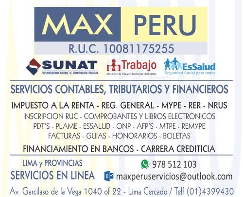servicios contables, tributarios y financieros