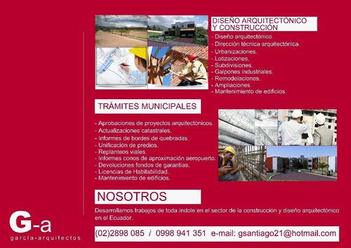 servicios de arquitectura y trámites municipales