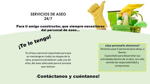 servicios de aseo, limpieza, higiene, desinfección.