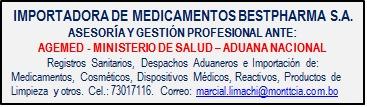servicios de asesoria ante agemed - registro sanit. -bolivia