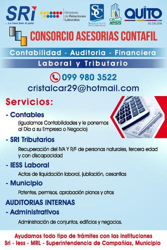 servicios de asesoria contable, tributario, laboral, financ