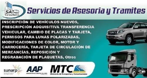 servicios de asesoria y gestion vehicular en general peru