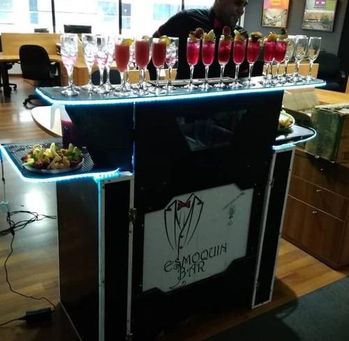 servicios de barra movil led,bartender,cocteles,fiestas.