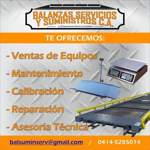 servicios de calibración mantenimiento ajuste de balanzas