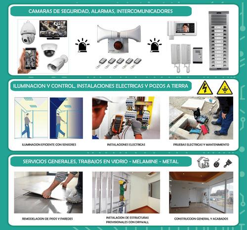 servicios de camaras de seguridad, alarmas, control accesos