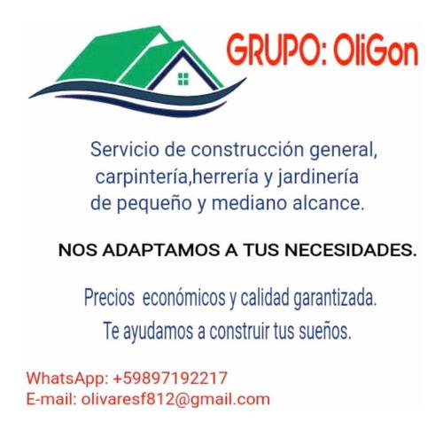 servicios de construcción, carpintería, herrería y otros