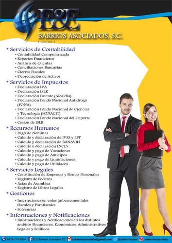servicios de contabilidad, administracion e impuesto