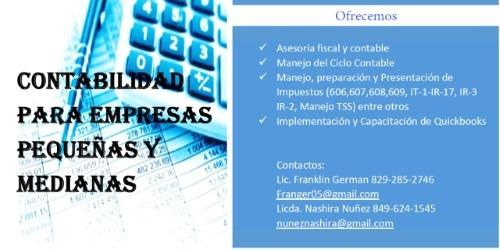 servicios de contabilidad e impuestos  y quickbooks