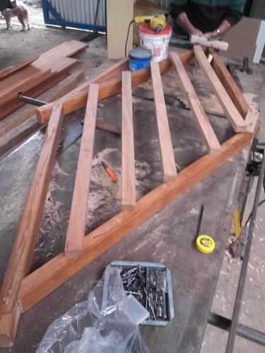 servicios de corte, cepillado, pintado y armado de madera