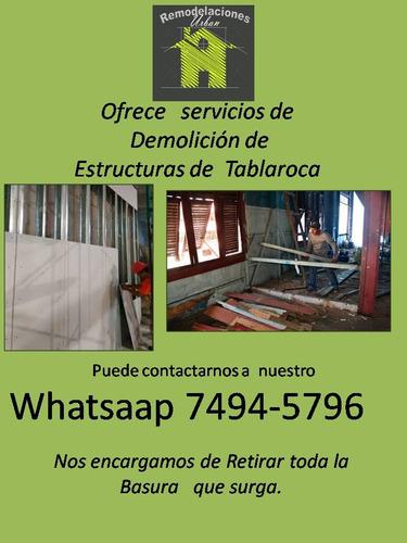 servicios de demolición de estructuras de tablaroca