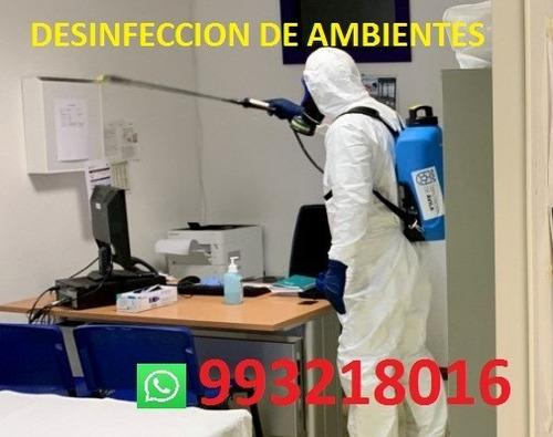 servicios de desinfeccion de ambientes