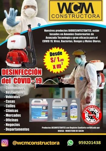 servicios de desinfección, desinsectación y desratización