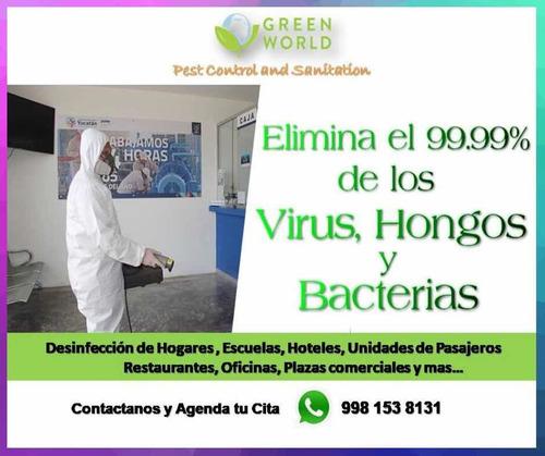 servicios de desinfección y sanitizacion