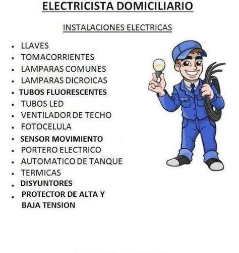 servicios de electricidad ,reparación de electrodomésticos