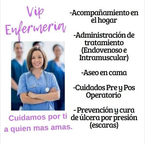 servicios de enfermeria a domicilio adulto y niños