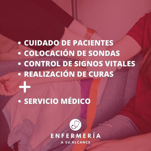 servicios de enfermeria a domicilio, incluye visita medica.