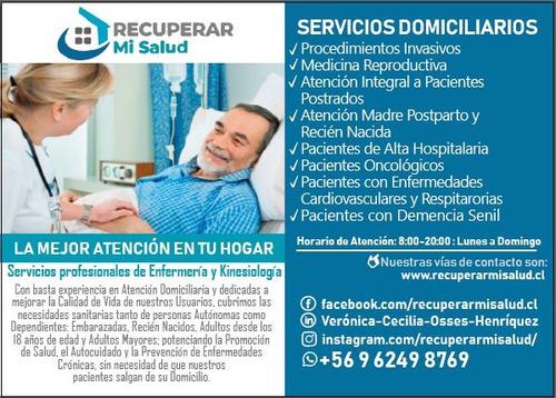 servicios de enfermería y kinesiología a domicilio