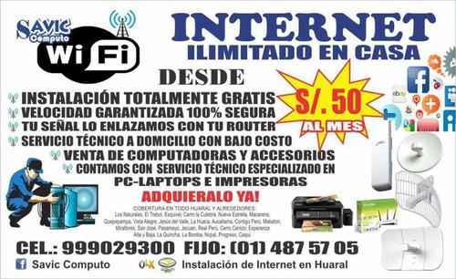 servicios de internet en huaral