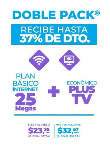 servicios de internet - televisión y telefonía