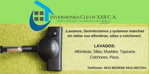 servicios de limpieza, alfombras y mantenimiento general