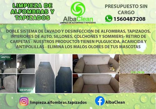 servicios de limpieza y desinfección de alfombras y tapizado