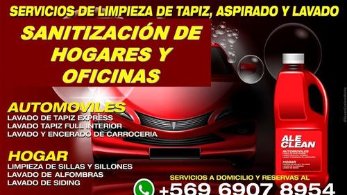 servicios de limpieza y sanitización en hogares y vehiculos