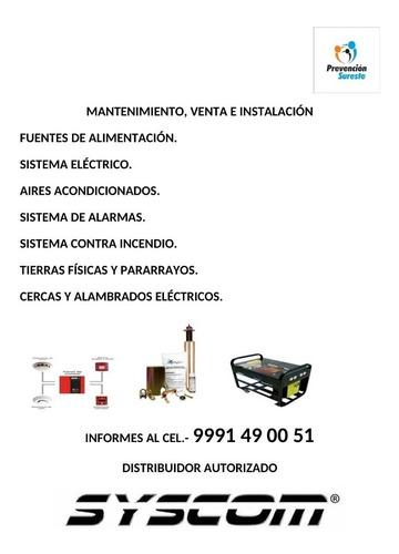 servicios de mantenimiento, venta e instalación de equipos.