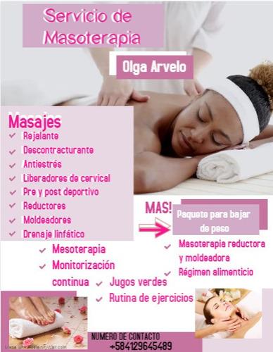 servicios de masoterapia y más