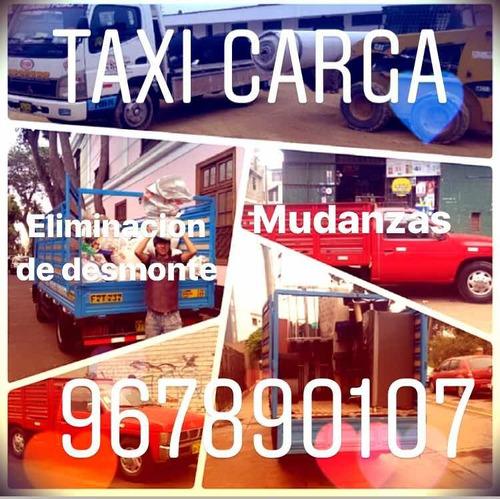 servicios de mudanzas taxi carga y eliminacion de desmonte