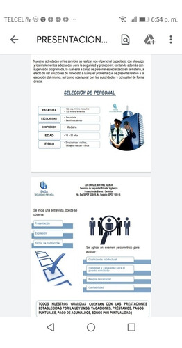 servicios de personal de seguridad privada para su empresa y