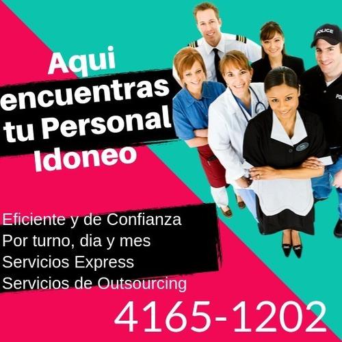 servicios de personal doméstico