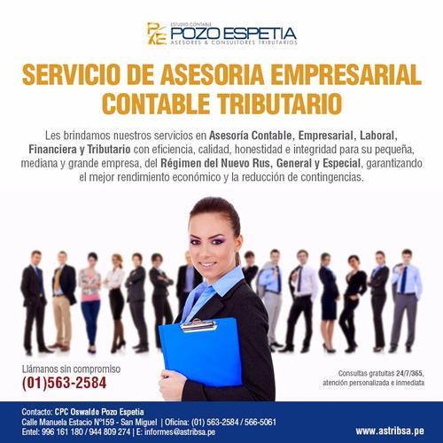 servicios de planillas ,asesoria laboral,contratos ,plame