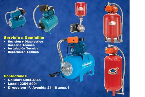servicios de plomeria y bombas de agua guatemala