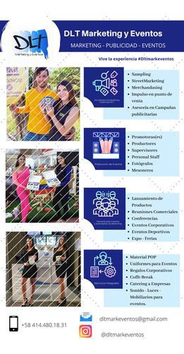 servicios de promotoras - producción de eventos - publicidad