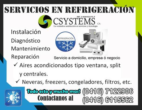 servicios de refrigeración csystems
