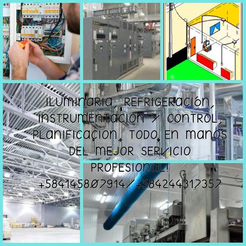 servicios de refrigeración y electricidad