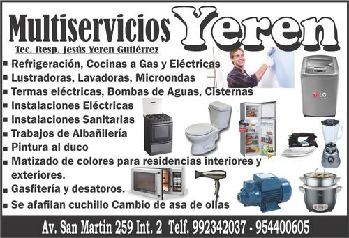 servicios de reparaciones y mantenimiento