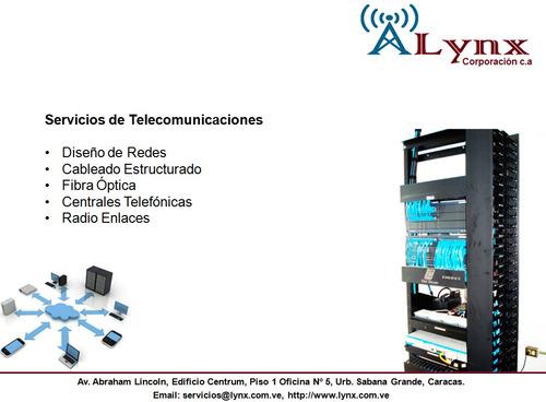 servicios de telecomunicaciones.