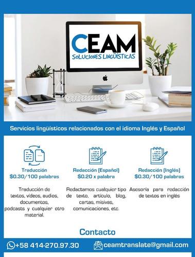 servicios de traducciones (inglés-español)