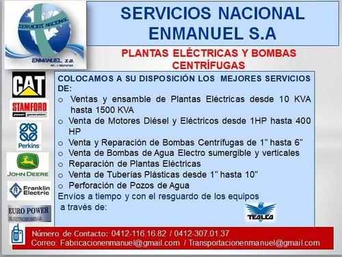 servicios de transporte de carga pesada y plantas elétricas