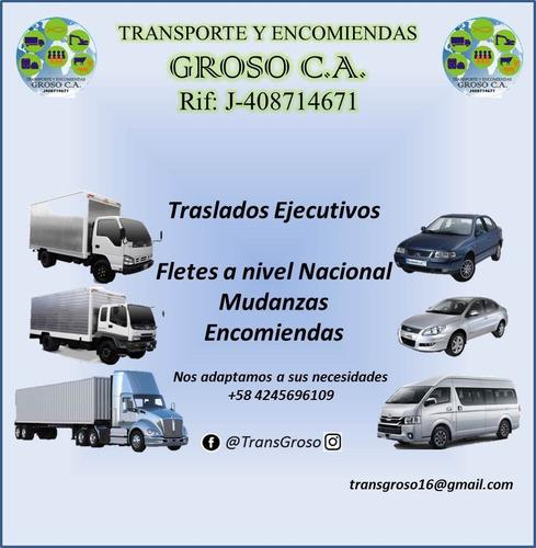 servicios de viajes, fletes, mudanzas y encomiendas groso ca