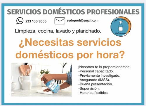 servicios domésticos por hora, limpieza, cocina, lavado y pl