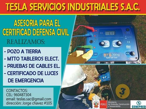 servicios eléctricos, pozos a tierra