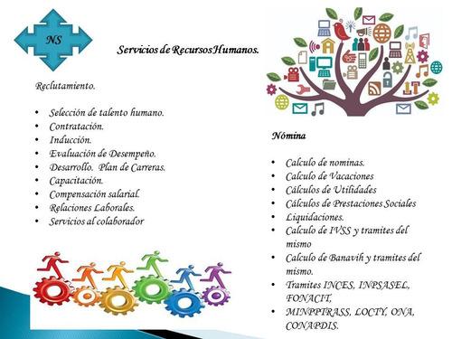 servicios en administración y recursos humanos t